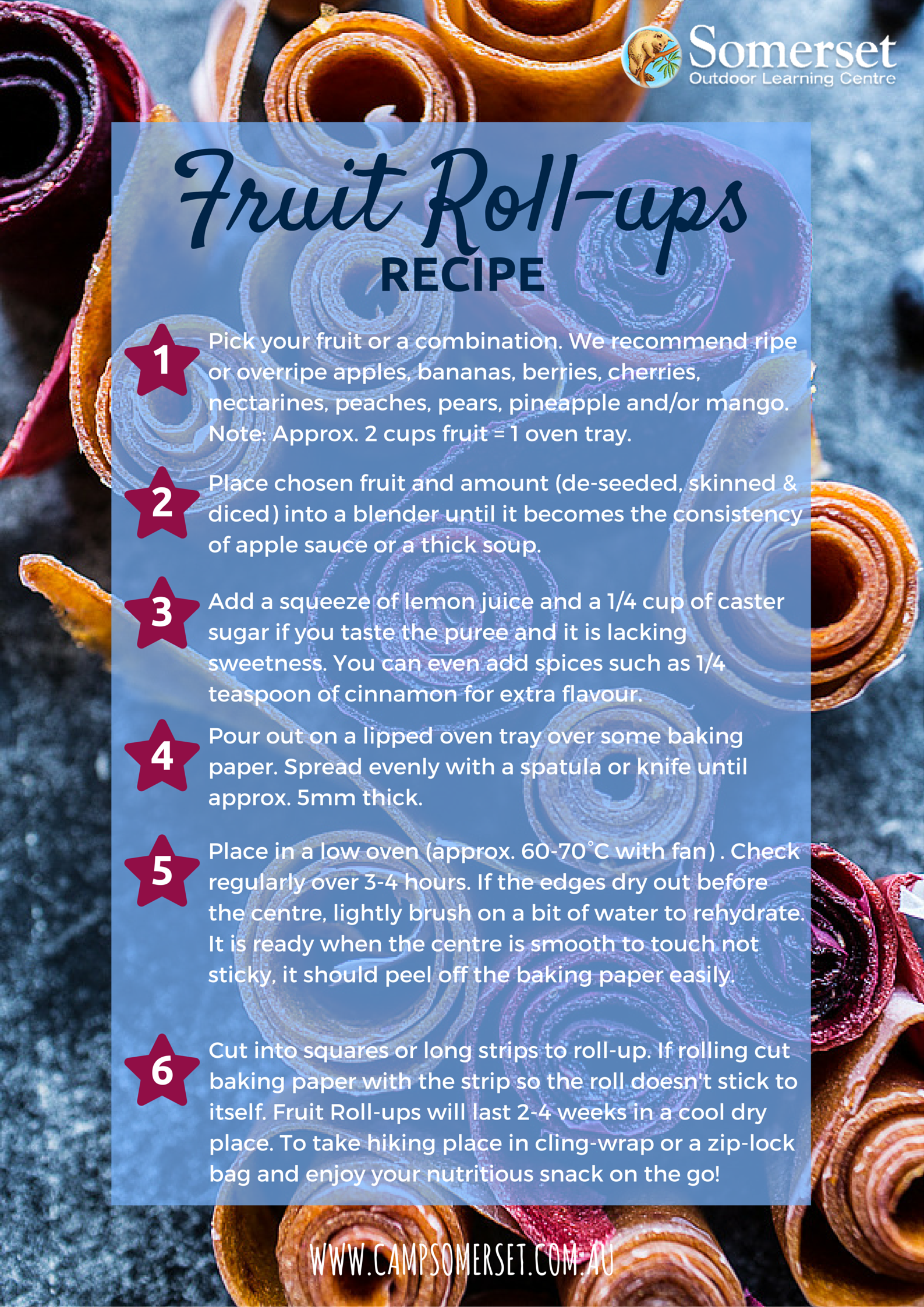 Image Fruit Roll Up Recipe Card
