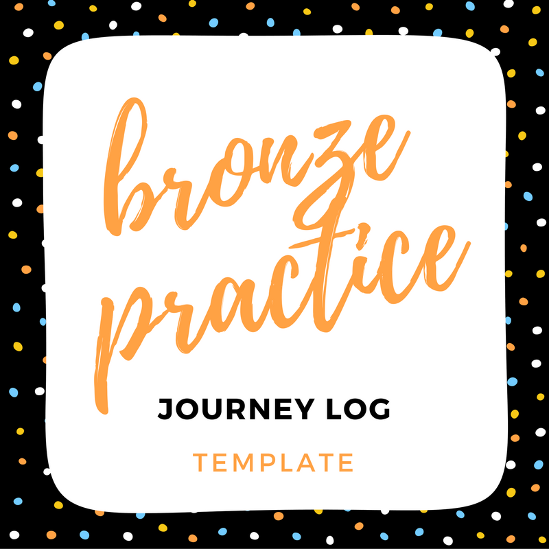 IMAGE bronze practice log template link