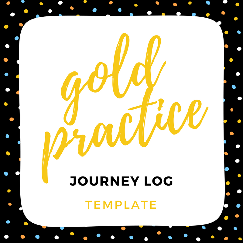 IMAGE gold practice log template link